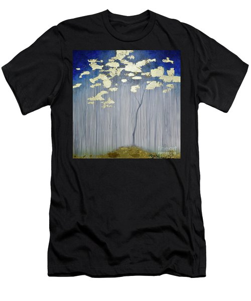 Men's T-Shirt (Athletic Fit) featuring the painting Golden Forest by Mary Scott