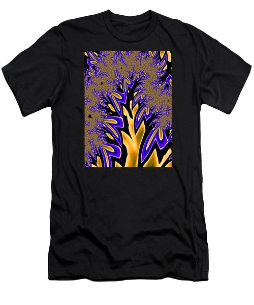 Men's T-Shirt (Slim Fit) featuring the photograph Golden Fractal Tree by Ronda Broatch