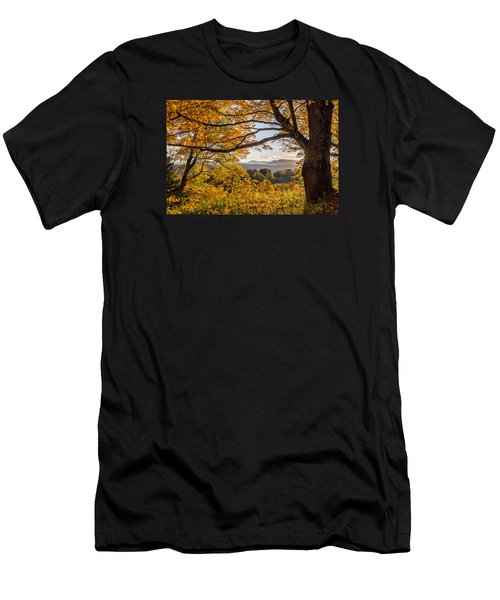 Vermont Framed In Gold Men's T-Shirt (Athletic Fit)