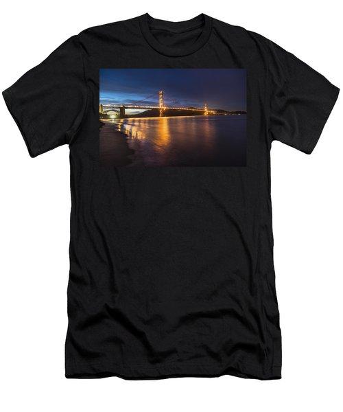 Golden Gate Blue Hour Men's T-Shirt (Athletic Fit)