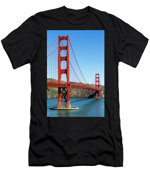 Golden Gate Bridge On Sunny Morning Men's T-Shirt (Athletic Fit)