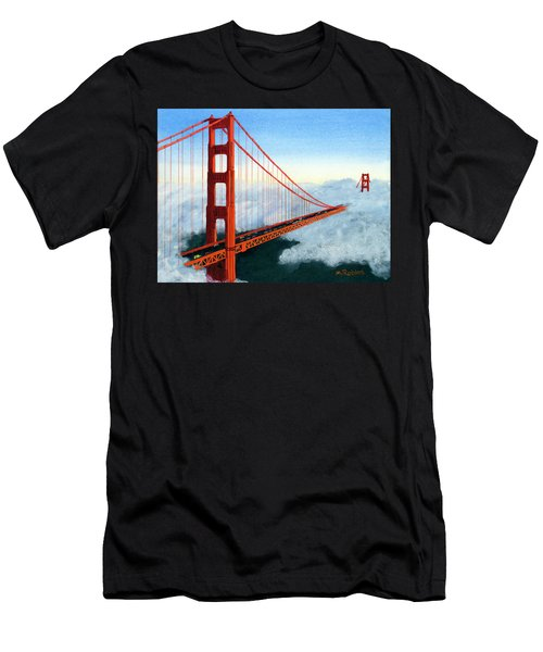 Golden Gate Bridge Sunset Men's T-Shirt (Athletic Fit)
