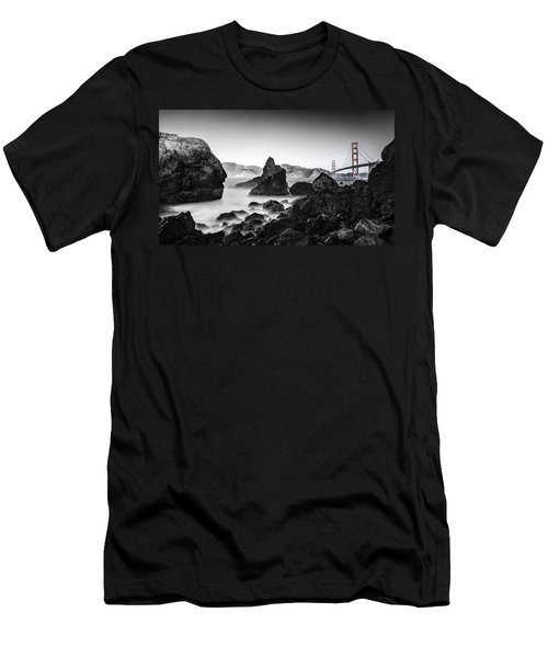 Men's T-Shirt (Athletic Fit) featuring the photograph Golden Gate Colour by Chris Cousins