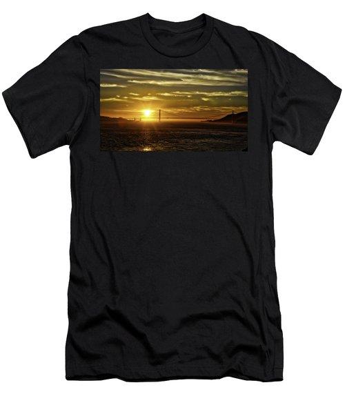 Golden Gate Sunset Men's T-Shirt (Athletic Fit)