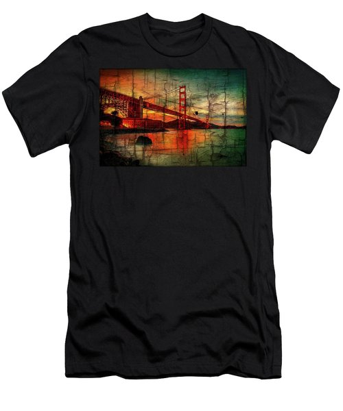 Golden Gate Weathered Men's T-Shirt (Athletic Fit)