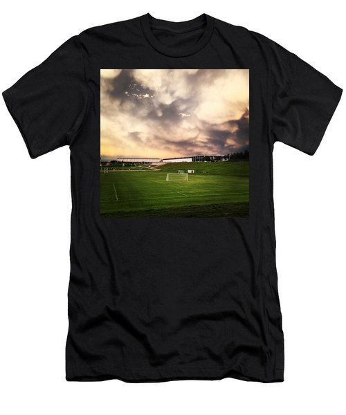 Men's T-Shirt (Slim Fit) featuring the photograph Golden Goal by Christin Brodie
