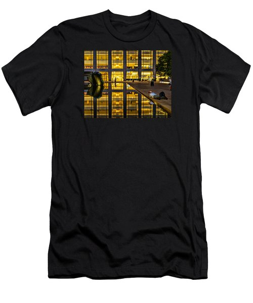 Golden Grid Men's T-Shirt (Athletic Fit)