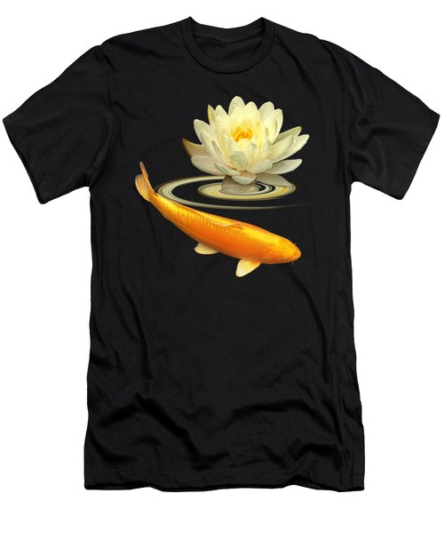 Golden Harmony Square Men's T-Shirt (Slim Fit)