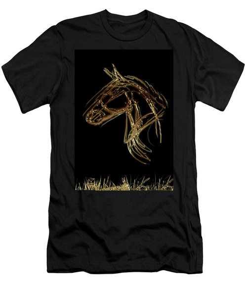 Golden Horse Men's T-Shirt (Athletic Fit)