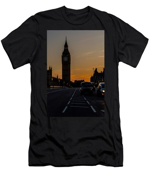 Golden Hour Big Ben In London Men's T-Shirt (Athletic Fit)