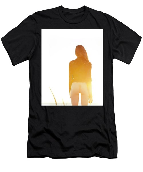 Men's T-Shirt (Athletic Fit) featuring the photograph Golden Hour Girl by Michael Maximillian Hermansen