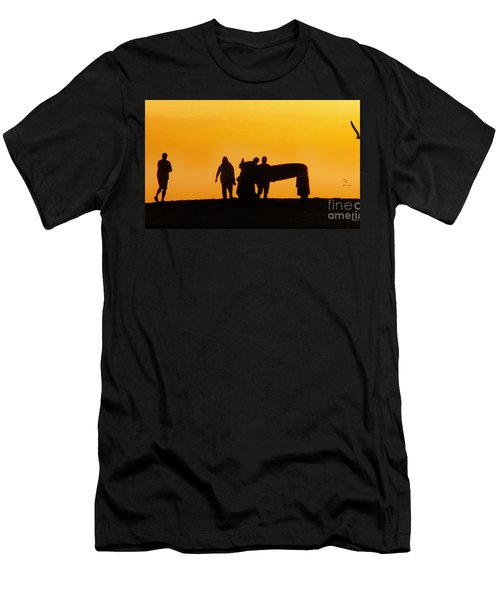 The Golden Hour Men's T-Shirt (Slim Fit) by Rhonda Strickland