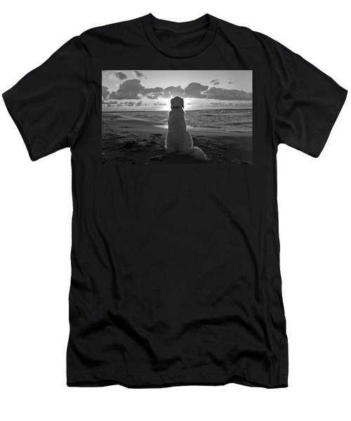 Golden Labrador Watching Sunset Men's T-Shirt (Athletic Fit)