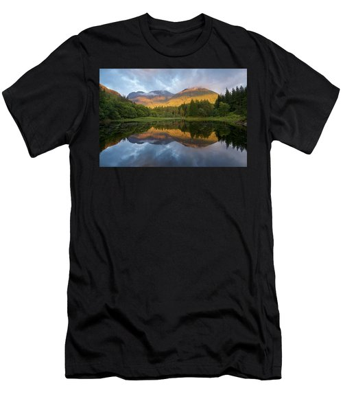 Golden Light At The Torren Lochan Men's T-Shirt (Athletic Fit)