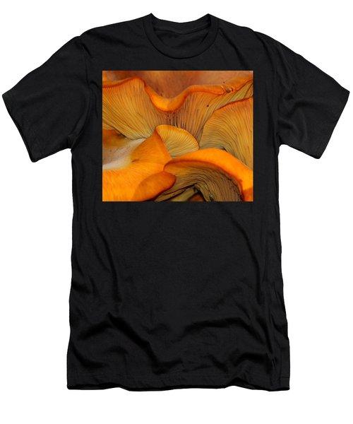Golden Mushroom Abstract Men's T-Shirt (Athletic Fit)