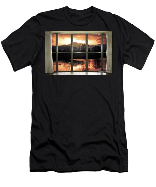 Golden Ponds Bay Window View Men's T-Shirt (Athletic Fit)