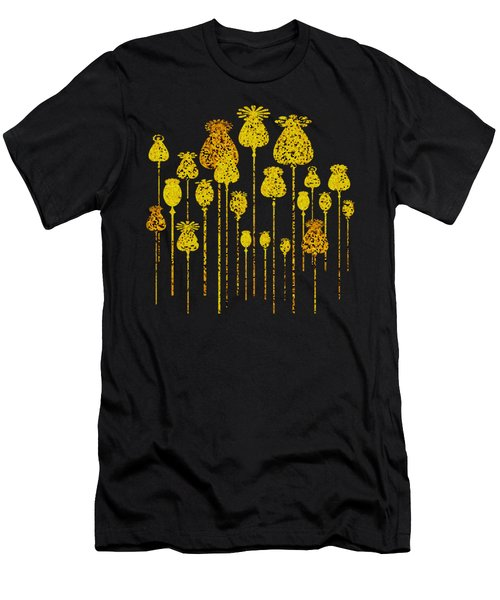 Golden Poppy Heads Men's T-Shirt (Athletic Fit)