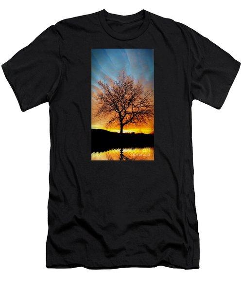 Golden Reflection Men's T-Shirt (Slim Fit) by Dan Stone