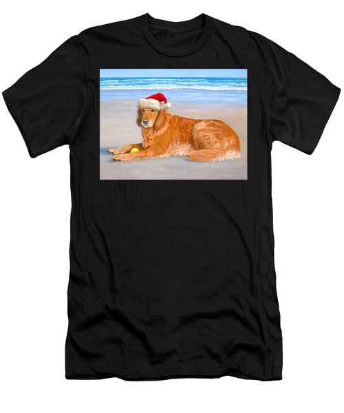 Golden Retreiver Holiday Card Men's T-Shirt (Athletic Fit)