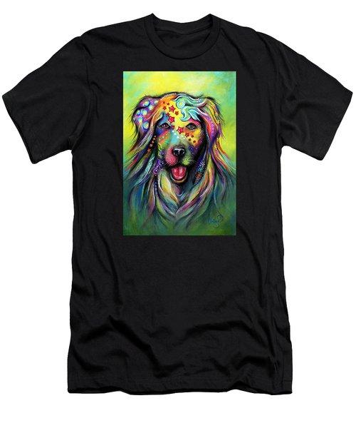 Golden Retriever Men's T-Shirt (Slim Fit) by Patricia Lintner