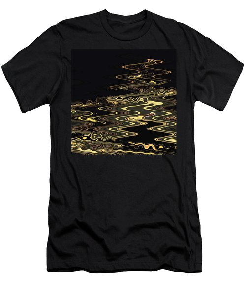 Golden Shimmers On A Dark Sea Men's T-Shirt (Athletic Fit)