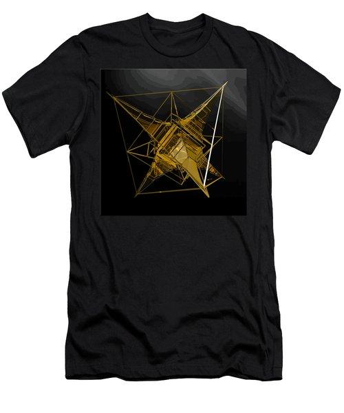 Golden Space Craft Men's T-Shirt (Athletic Fit)
