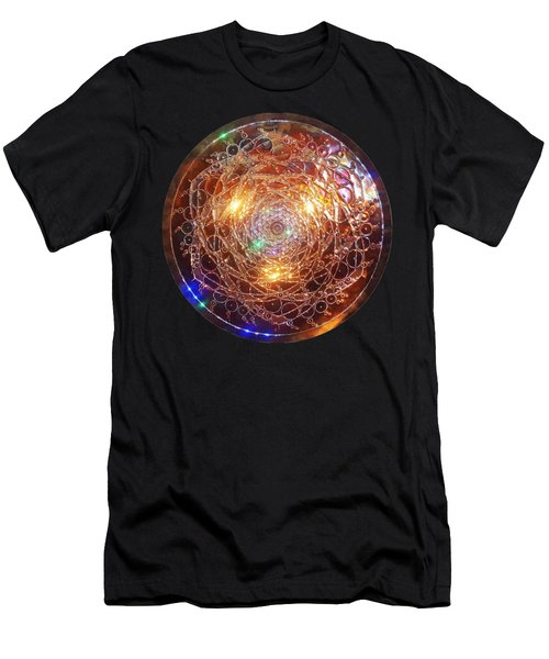 Men's T-Shirt (Athletic Fit) featuring the sculpture Golden Spiral Copper Lightmandala by Robert Thalmeier