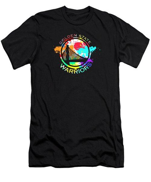 Golden State Warriors Pop Art Men's T-Shirt (Athletic Fit)
