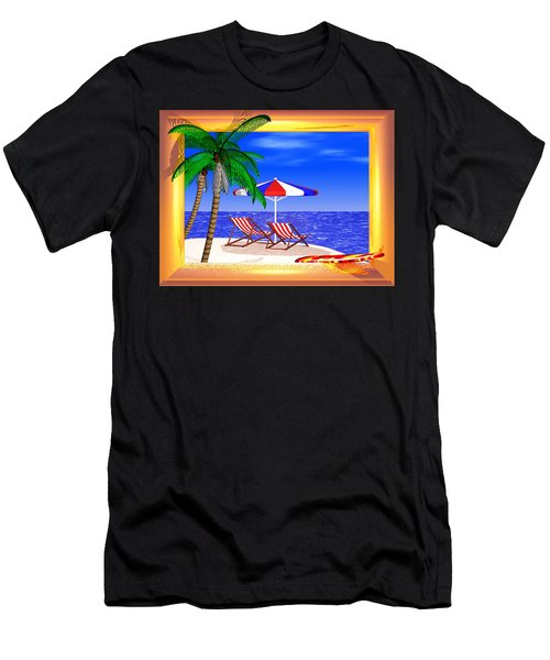 Men's T-Shirt (Slim Fit) featuring the digital art Golden Summer by Andreas Thust