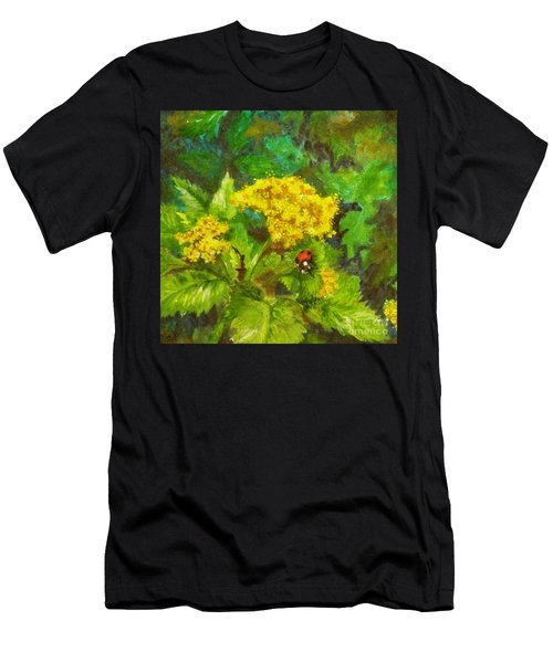 Golden Summer Blooms Men's T-Shirt (Athletic Fit)