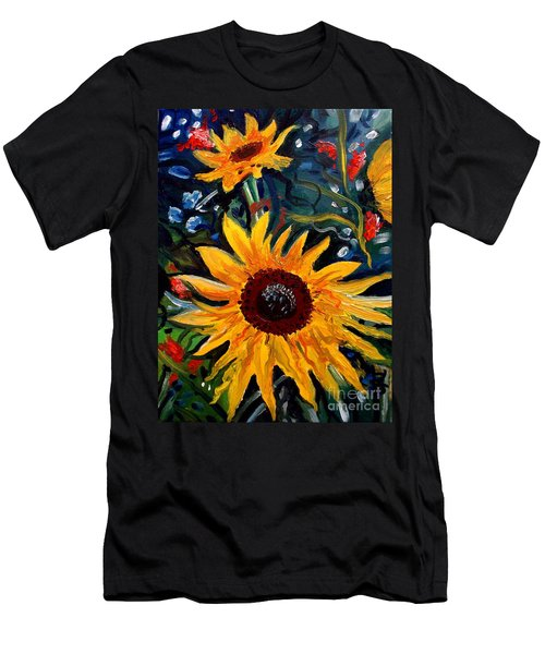 Golden Sunflower Burst Men's T-Shirt (Athletic Fit)