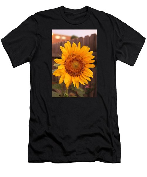 Golden Sunflower Closeup Men's T-Shirt (Athletic Fit)