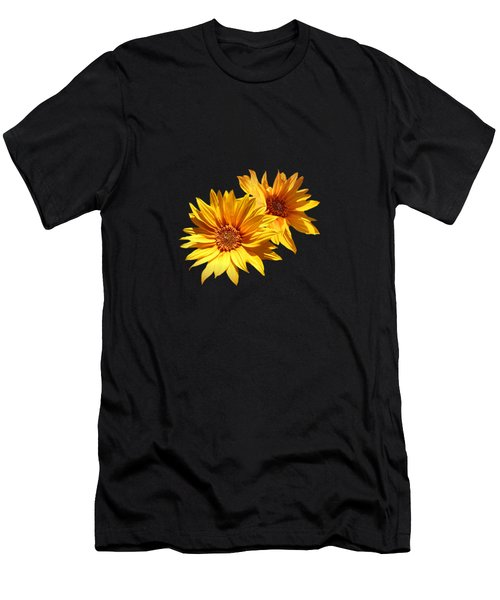 Golden Sunflowers Men's T-Shirt (Athletic Fit)