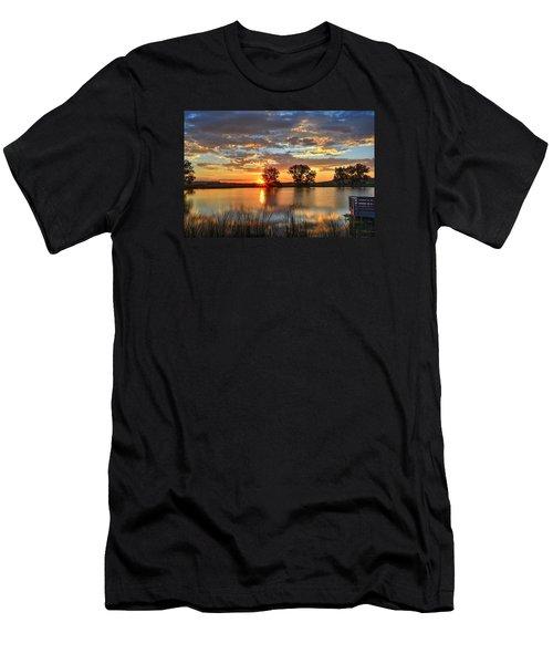 Golden Sunrise Men's T-Shirt (Slim Fit) by Fiskr Larsen
