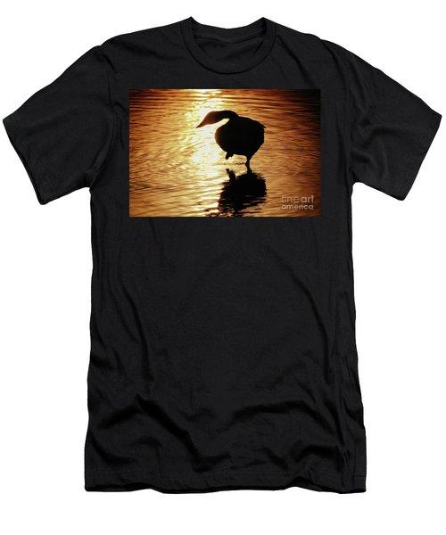 Men's T-Shirt (Slim Fit) featuring the photograph Golden Swan by Tatsuya Atarashi