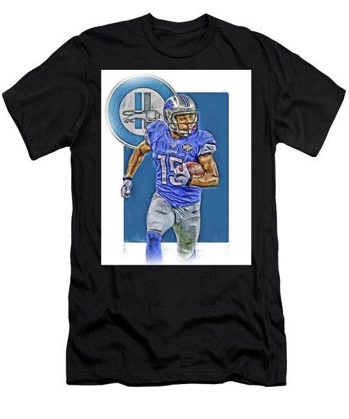 Golden Tate Detroit Lions Oil Art Men's T-Shirt (Athletic Fit)