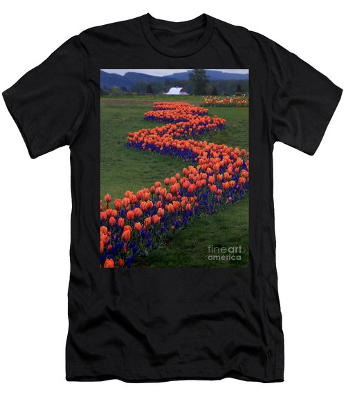 Men's T-Shirt (Athletic Fit) featuring the photograph Golden Thread by Peter Simmons