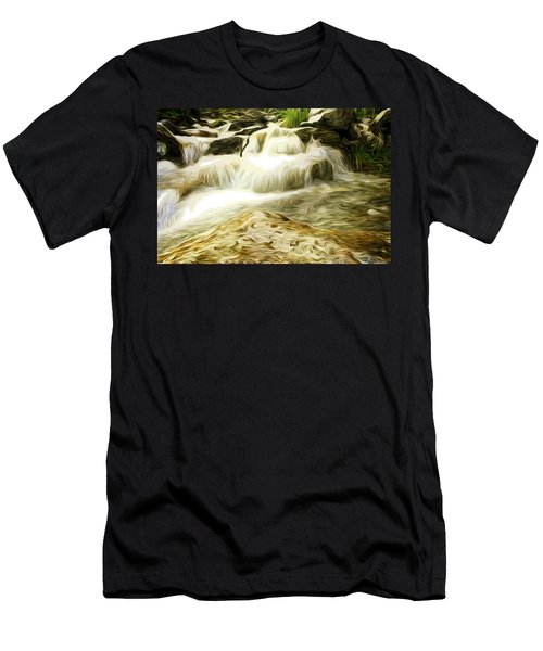 Golden Waterfall Men's T-Shirt (Athletic Fit)