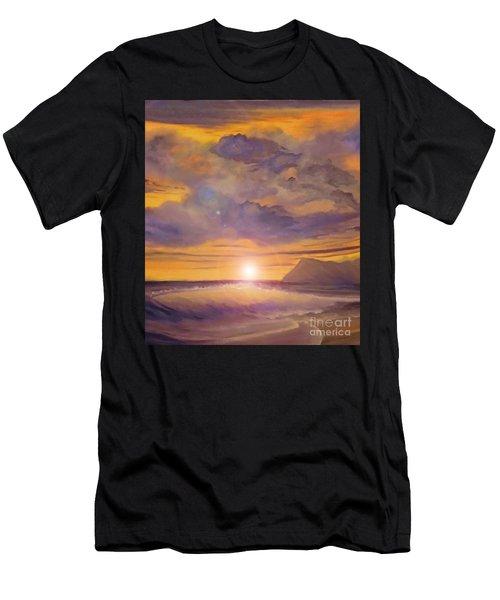 Golden Wave Men's T-Shirt (Athletic Fit)