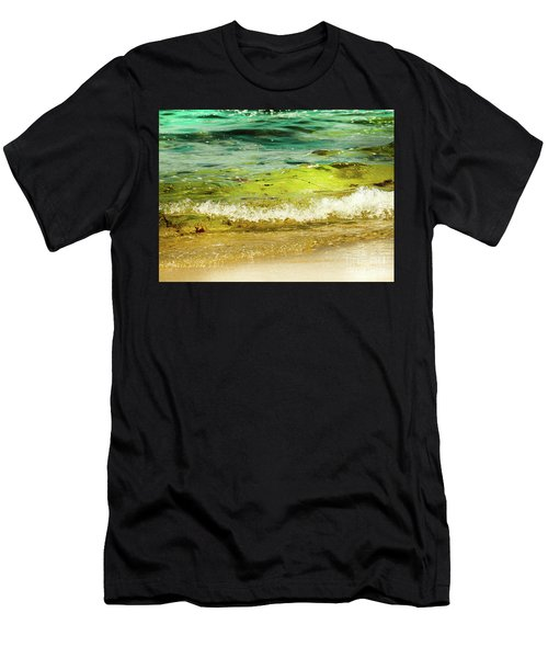 Golden Waves At Pacific Grove California Near Lover's Point Men's T-Shirt (Athletic Fit)