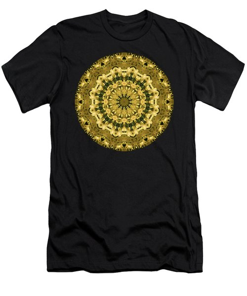 Goldenrod Mandala -  Men's T-Shirt (Athletic Fit)