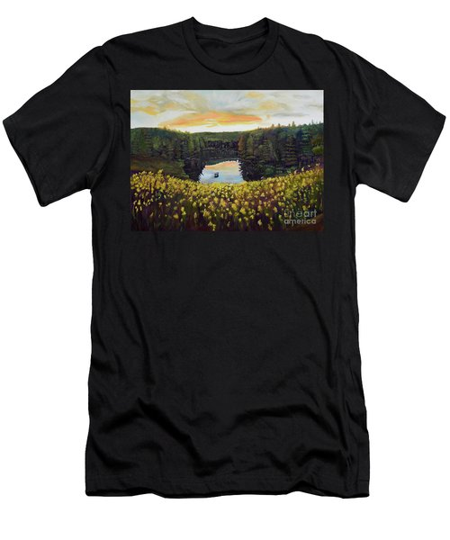 Goldenrods On Davenport Lake-ellijay, Ga  Men's T-Shirt (Athletic Fit)