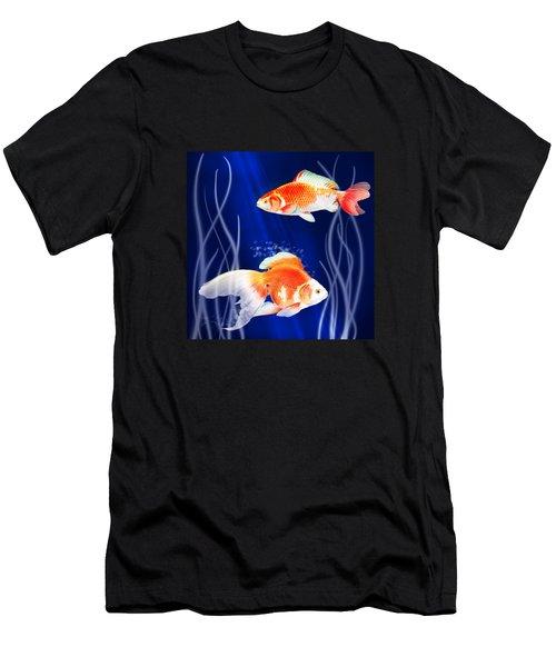 Goldfish Aglow Men's T-Shirt (Athletic Fit)