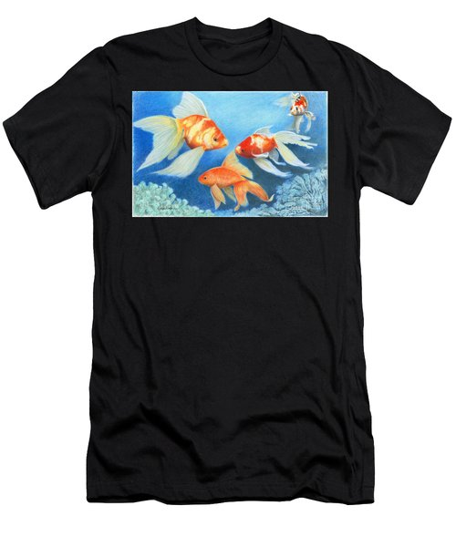 Goldfish Tank Men's T-Shirt (Athletic Fit)