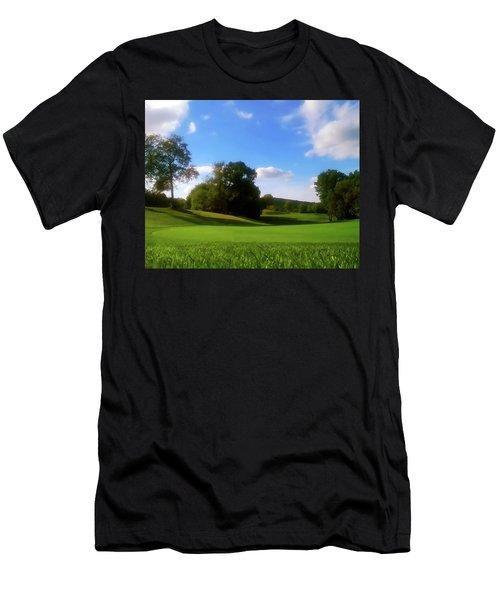 Golf Course Landscape Men's T-Shirt (Athletic Fit)