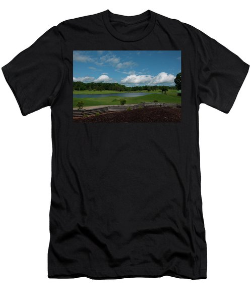 Golf Course The Back 9 Men's T-Shirt (Slim Fit) by Chris Flees