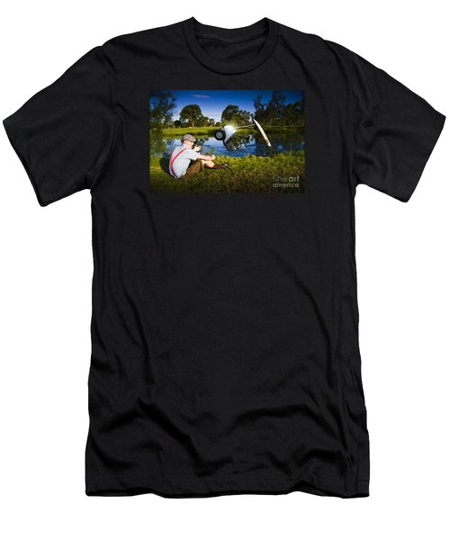 Men's T-Shirt (Athletic Fit) featuring the photograph Golf Problem by Jorgo Photography - Wall Art Gallery
