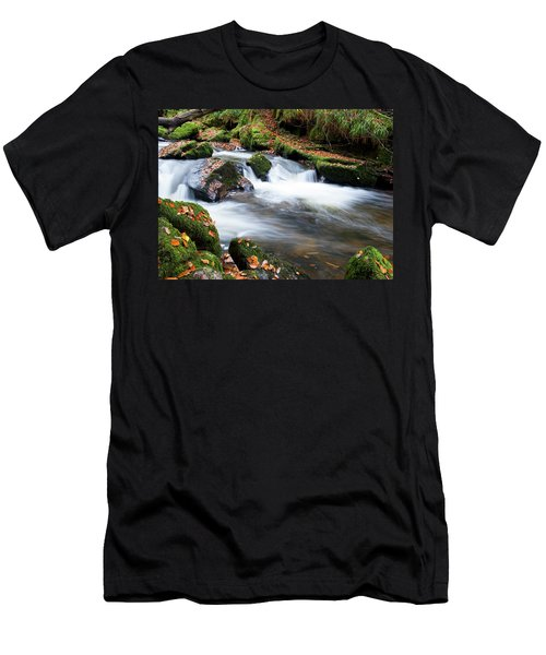 Golitha Falls IIi Men's T-Shirt (Slim Fit) by Helen Northcott