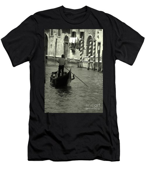 Gondolier In Venice   Men's T-Shirt (Athletic Fit)