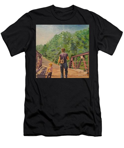 Gone Fishing With Dad Men's T-Shirt (Athletic Fit)
